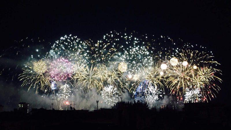 Jede Nacht Partys in Rimini in Italien